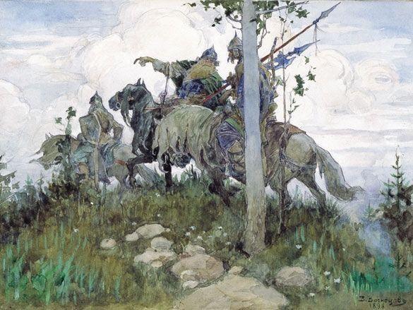 Богатыри (1898) В.Васнецов