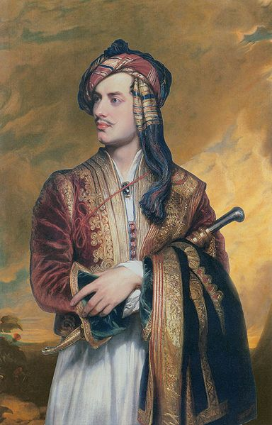 Lord Byron in Albanian Costume, painted by Thomas Phillips in 1813