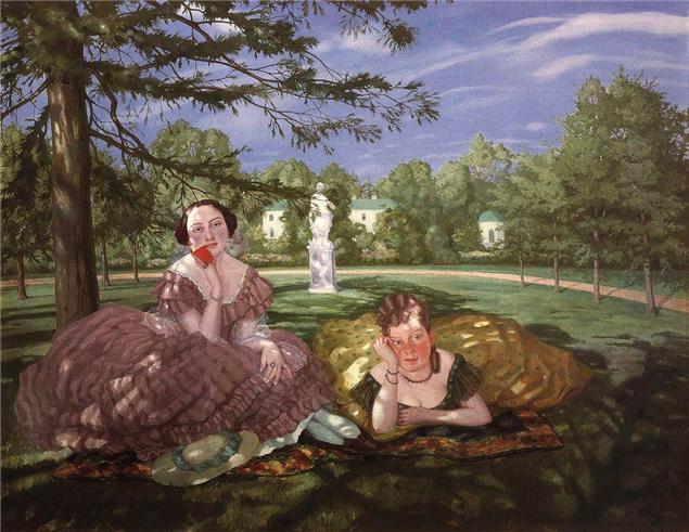 """Константин Сомов """"Две дамы в парке"""""""