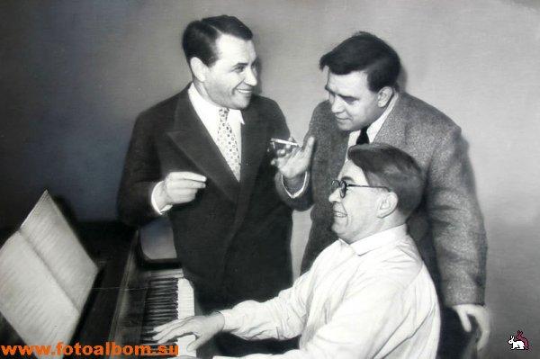 В.Соловьёв-Седой, В.Кнушевицкий и М.Бернес