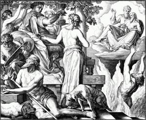 Юлиус Шнорр фон Карольсфельд. Притча о богаче и нищем Лазаре (Евангелие от Луки 16:19-31)