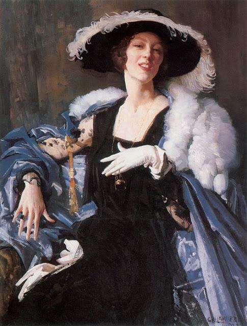 Ламберт, Джордж (Lambert, George. 1873-1930) Белая перчатка (The white glove). 1921