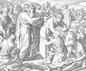 Юлиус Шнорр фон Карольсфельд. Насыщение пяти тысяч (Евангелие от Иоанна 6:3-14)
