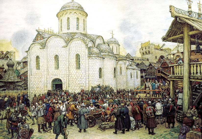 Оборона Москвы от нашествия хана Тохтамыша. А.М.Васнецов