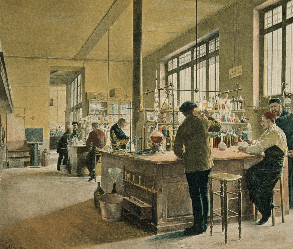 "M. Gueldry ""Painting of Municipal Chemistry Lab"", Paris, 1887"