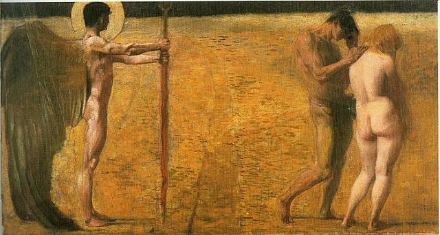 Franz von Stuck - Изгнание из рая. 1891