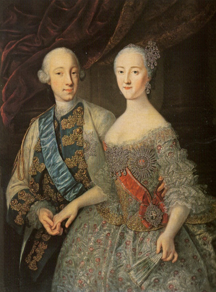 Grand Duke Pyotr Fyodorovich and Grand Duchess Yekaterina Alekseyevna  by Georg Groot The State Russian Museum