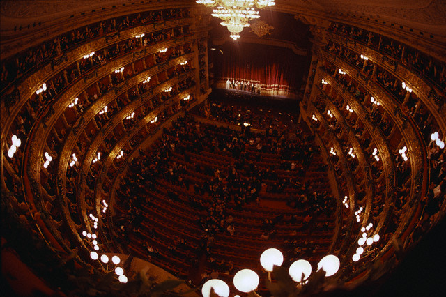 Performance in La Scala Opera House in Milan