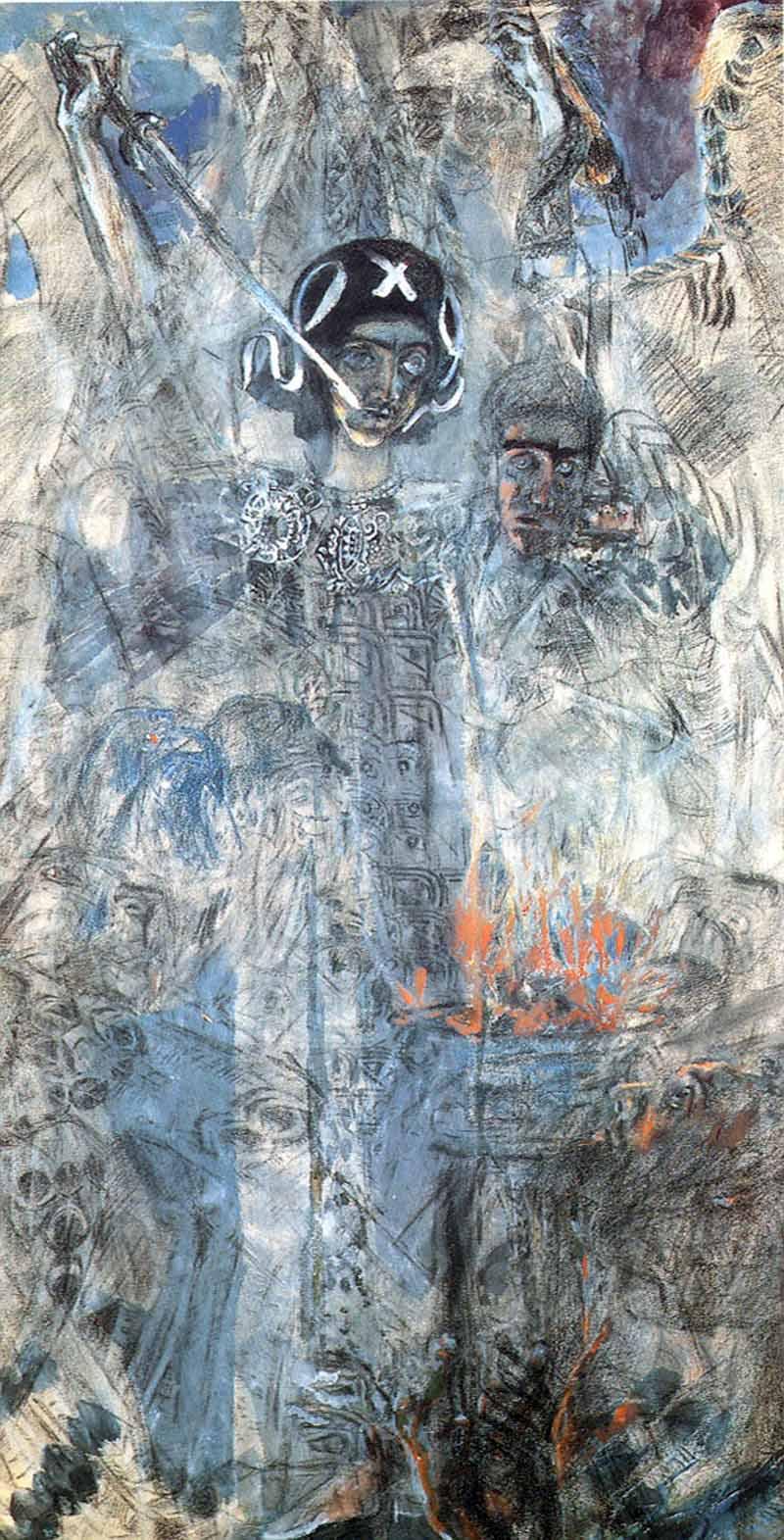 """М.Врубель. Видение пророка Иезекииля"""" 1906г."""