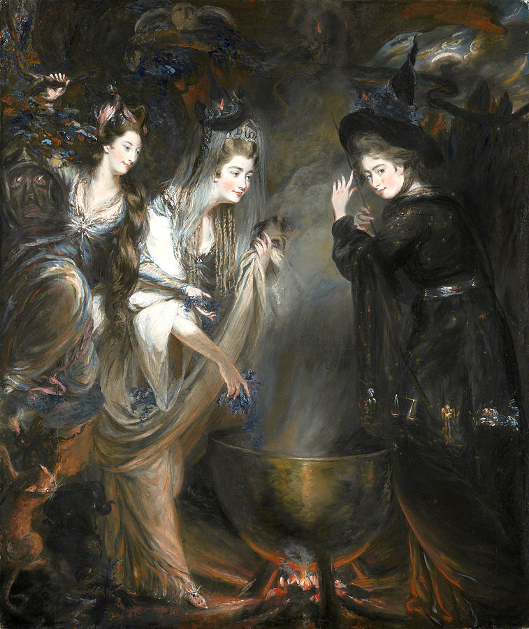 The Three Witches from Shakespeares Macbeth by Daniel Gardner, 1775.