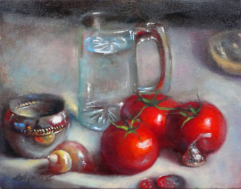 Tomatoes with Glass, Silver, Shell and Kiss.  HALL GROAT II