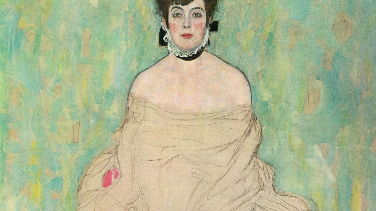 Portrait of Amalie Zuckerkandl, 1917-18 by Gustav Klimt.