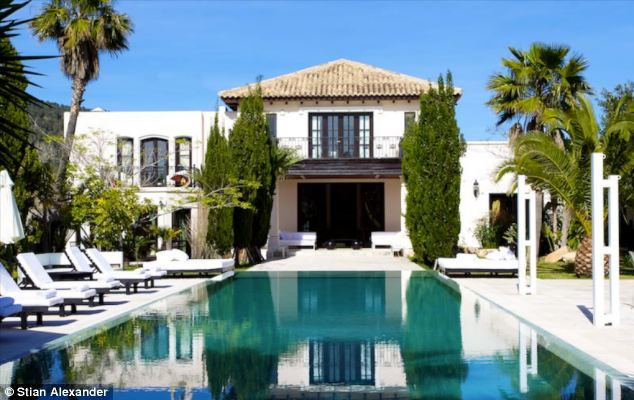 Mr Goldsmith's infamous £5.6million Ibiza holiday home, Maison de Bang Bang