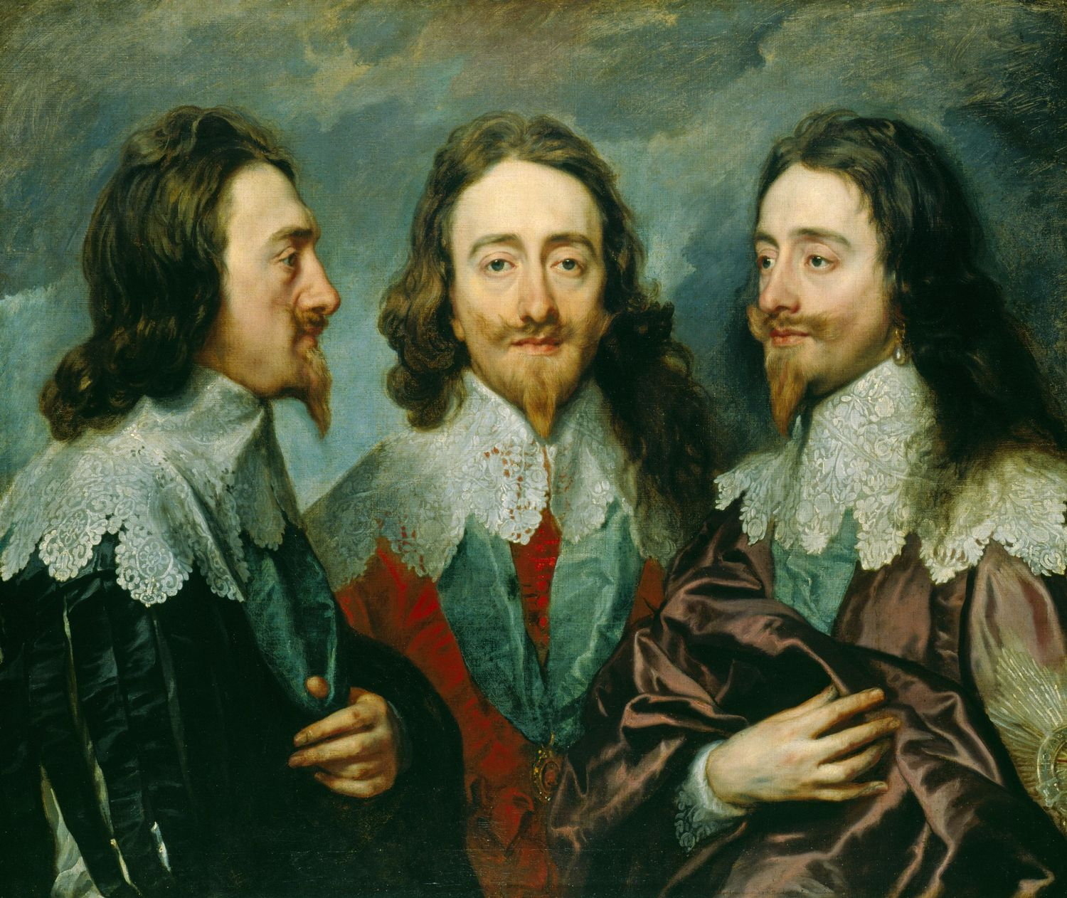 Charles I in Three Positions, Anthony van Dyck