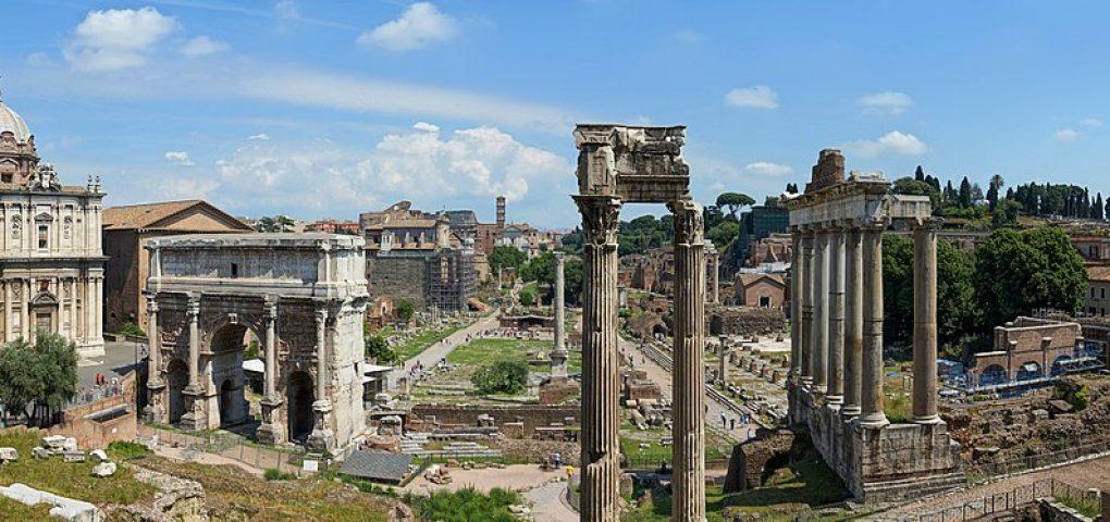 Панорама римского форума. 2011