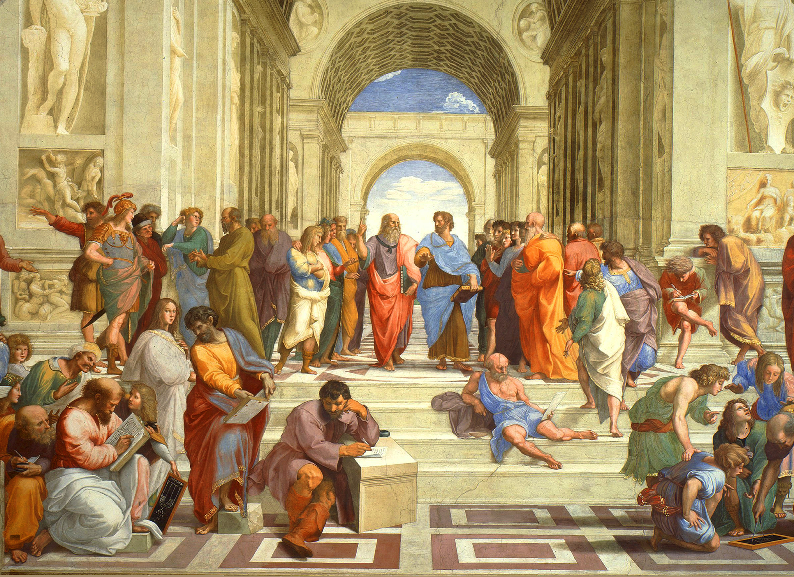 an analysis of the artork school of athens by raphael Raphael was an italian renaissance artists that painted his famous school of athens in 1510 this piece of work is the epitome of a great painting for composition, among.
