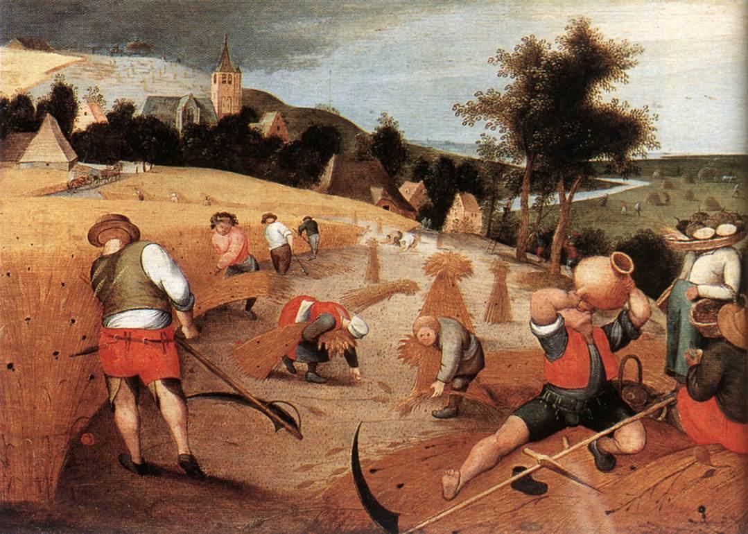 картинки крестьян средневековья при двухрядном